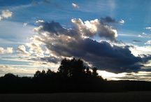 sky/clouds / My own photos.most w. A mobil phone camera..some w. Camera. Clouds and the light in the sky is fasinating..