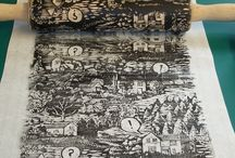 Rolling pin printing