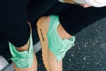 Colourful sneakers