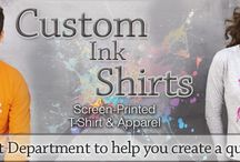 Custom Ink T Shirts | Personalized Screen Printed Tees / Buy custom ink t shirts at EZ Corporate Clothing 1-877-304-1899; personalized short and long sleeve screen printed t shirts, pocket tees, tank tops. http://www.ezcorporateclothing.com/pages/custom-ink-shirts