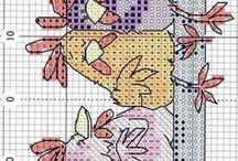 haftowane krzyżyk