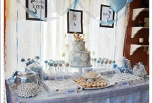 Baby boy ★ Sweet Tables + party inspiration / Baby boy party ideas + Sweet Tables