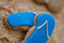 #beachware cookies / Kαλοκαιρινά μπισκοτάκια με ζαχαρόπαστα σε σχέδια beachware