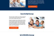 life insurance landing page design