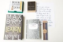 "The Literary Box / ""Your copy of Lexicon includes exclusive handwritten notes from Max Barry that will give you insight into the book's origins, inspiration, and background."""