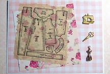 sewing-related paper crafts: cards, hanging, etc.