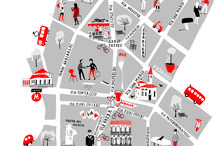 Illustrated maps of cities