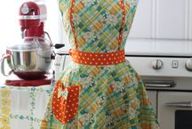 Aprons and Linens - Vintage Syle