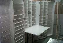 Craft 'Furniture' and Organization / Furniture and shelves my stepfather has built for my scrapping and crafting room. / by Theresa Mittan