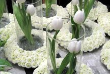 Dekorace s tulipány