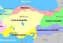 Turkey - wine maps