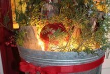 Weihnachtlicher Hauseingang