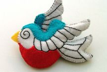 Felt, Felted, Felting & Fulling / All things made from felt or that can be felted.  I am fond of the quaint loveliness of items made of felt.  I also enjoy felting/fulling crocheted items; it is sort of a magical experience to watch them transform.  / by Joanna 4D Farm