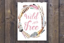 Unique prints to pretty up your home or office.