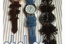 Pulseiras de relógio macrame