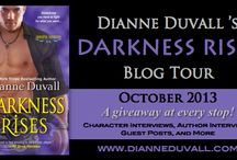 Darkness Rises Blog Tour / Join my on my Darkness Rises Blog Tour in October 2013 and get to know me and my Immortal Guardians through character interviews, author interviews, guest posts, excerpts, and more! — http://www.dianneduvall.com/tours.htm