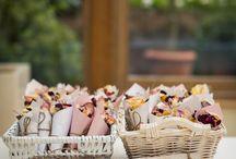 Mariage pétale rose confetti