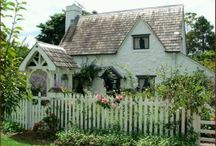 A White English Cottage / White cottage country style interior and exterior  / by Janet Parrella-van den Berg - White & Faded