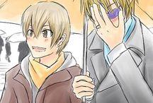 Shizukida - Shizuo Heiwajima x Masaomi Kida - Durarara!! / I love the blondes of Durarara!! and I will never stop loving them ❤ OTP