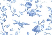 blue and white wallpaper