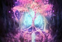 neon fantasy tree