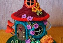 Cute crochet home