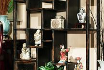 Asian curio stand