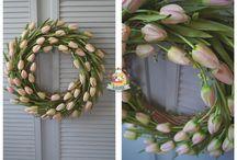 Wielkanoc 2017 / Moje dekoracje Wielkanocne... wianki, kompozycje, stroiki...