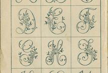 monogrammi / lettere alfabeto