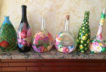 Bottiglie / Dipinte a mano