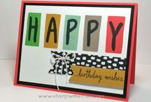 Stampin Up Layered Letters Alphabet