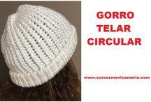 GORROS TELAR MAYA / Tutoriales para tejer Gorros en telar Maya