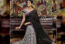 HIMTARA -Catalogue / Buy the latest  chiffon, georgette designer printed saree  from Laxmipati Sarees.