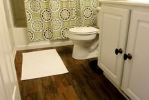 I Need a New Bathroom Floor / Small space - Cheap - Adorable  / by Caroline Higgins