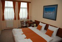 Hotel room / Hotel Podhradie poskytuje vyšší štandard ubytovania v jednolôžkových a dvojlôžkových izbách a apartmánoch v širšom okolí Považskej Bystrice./Podhradie Hotel provides a high quality accommodation in single and double rooms and studios in the area of Považská Bystrica.