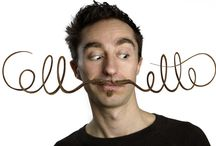 Portraits of designer & owner at COLLECTfurniture / Designer mustasch