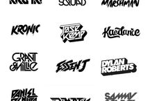 dj logo fonts