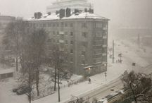 Helsinki winter scene