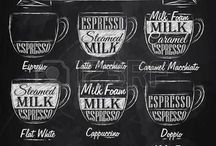 Espression Coffee Shop Ideas / Coffee shop menu and chalk board ideas for our shop.