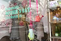 Mother's Day shop windows