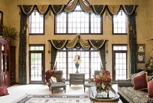 Impressive Window Treatments / We didn't install these, but they are impressive none the less.