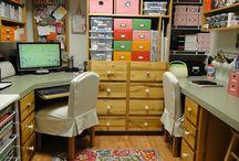 craft room / by Wendy VandeBogart
