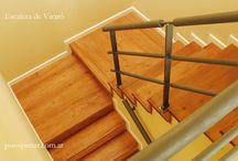 escalera y piso