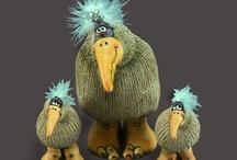 вороны и  др птички / интерьерные куклы