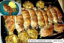 Finomságok / Levesek, húsételek, egytálételek, tészták stb.