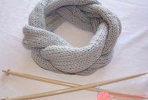 cuello de lana trenzado