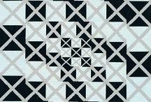 Lull / Black and White Encaustic Paintings
