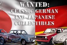 Cars Wanted / Collectible Wheels requires classic, well documented, collectible Japanese and German cars.