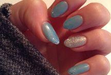 Shellac nails. Azure wish & ice vapor