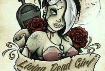 tatoo pin up